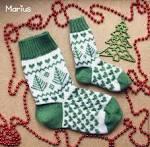 Вязание носок с орнаментом