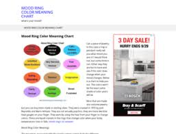 What Mood Ring Colors Mean Chart Mood Colours At Top Accessify Com