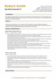 Skills A Sales Associate Should Have Gap Sales Associate Resume Samples Qwikresume