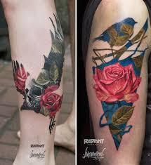 татуировки с двойной экспозицией от польского художника андрея