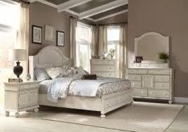 American Woodcrafters Newport 4-Piece Panel Bedroom Set w/ Storage ...