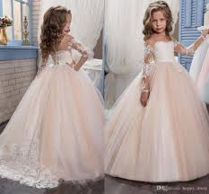 kids flower girls dresses for weddings 2017 pentelei with illusion