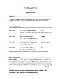 Good Resume Objectives Resume Templates
