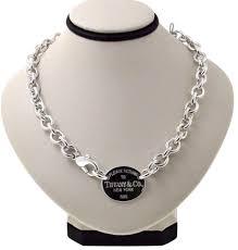 tiffany co please return to tiffany oval necklace choker 16 5 smart jewelry