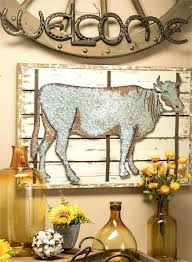 cow wall decor metal for bathroom