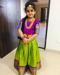 Indian Baby Girl Lehenga Designs Kids Pattulanga Indian Dresses Kids Blouse Designs