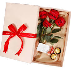 happy birthday 4 rose gift package