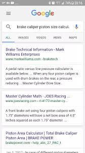 How Do We Calculate The Rotor Caliper Piston Diameter To