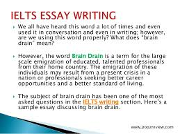 ielts essay writing brain drain