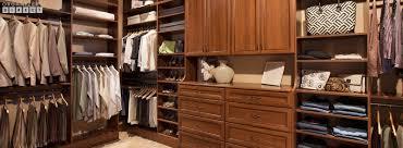 walk in wood custom closet