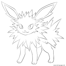 Small Picture Pokemon Coloring Pages To Print Print Flareon Pokemon Coloring