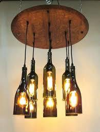 full image for appealing wine bottle light fixture chandelier 9 light wine bottle barrel top chandelier