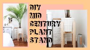 Mid Century Plant Stand Diy Mid Century Plant Stand West Elm Inspired Youtube