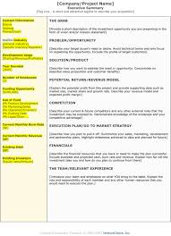 Format For An Executive Summary 10 Executive Summary Templates Word Excel Pdf