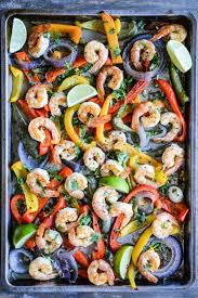 sheet pan shrimp fajitas shrimp fajita sheet pan dinner fed fit