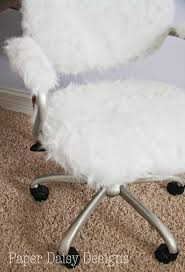 white furry desk chair minimalist design on fuzzy office 65 style full with furniture for home
