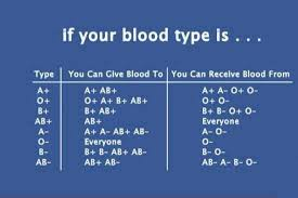 Universal Blood Type Chart Im The Universal Blood Donor Im Also The One That Can