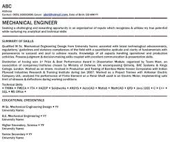 Sample Resumes For Freshers Engineers Resume Samples Engineering Wikirian Com