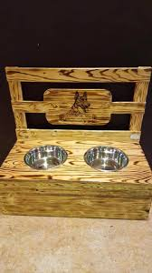 dog bowls with stand dog bowl stand medium wood dog dish stand