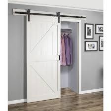 ... Erias Home Designs Stone Barn Door Kit - BD052W01WT1WTE36084W