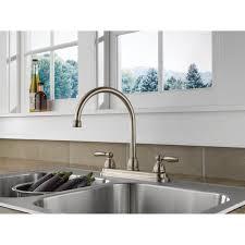 Double Handle Kitchen Faucet Delta P299565lf Apex Two Handle Kitchen Faucet