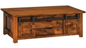 nolan barn door coffee table