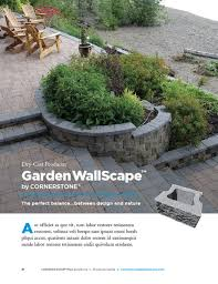 Small Picture Garden Wallscape Block Retaining Wall CornerStone Solutions