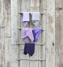 tea towel set set of five kitchen towels grey lavender lilac