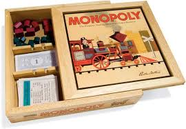 Wooden Monopoly Board Game Monopoly Nostalgia Classic 100 Version The Green Head 69