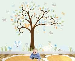 woodland animal luxury nursery wall art