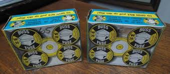 old buss fuse box wirdig boxes 10 fuses bussman buss fuses w 20 amp vintage 1961 new