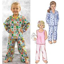 Pajama Patterns Amazing Kwik Sew Toddlers' Sleepwear Pattern Discount Designer Fabric