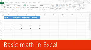 training basic math in excel 2016 introduction 1 of 4 you