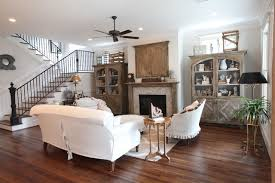French built-in cabinets with Italian linen sipcovered furniture  traditional-living-room
