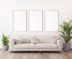 poster frame mockup in minimal bright