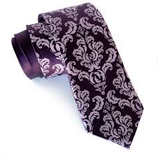 Damask Tie Madison Damask Necktie Eggplant Purple Mens Silk Tie Mens Wedding Tie Mens Ties Purple Tie For Groomsmen Wedding Ties Floral For Him
