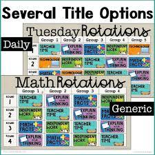 Digital Rotation Boards For Reading Math Bundle