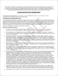 Sample Subcontractor Agreement Adorable Subcontract Agreement Format Ideal 44 Sample Subcontractor