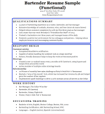 Resume For Bartender Interesting Resume Sample For Bartender