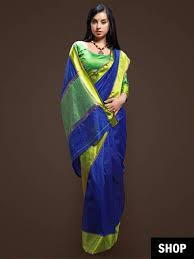 cobalt blue saree