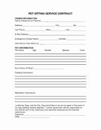 pet sitter forms 20 free pet sitting forms business guiaubuntupt org