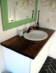 wood vanity top finish rustic shark tails