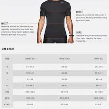 Nike Compression Shirt Size Chart Nike Shirt Size Chart Coolmine Community School