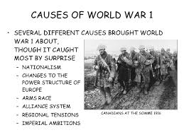 causes of world war  causes of world war 1 <ul><li>several different causes brought world