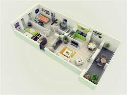 2 2 25 more 2 bedroom 3d floor plans from 2 bedroom house