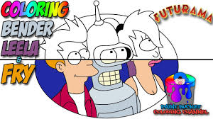futurama coloring pages. Perfect Pages How To Color Bender Leela And Fry  Matt Groeningu0027s Futurama Coloring Page  YouTube On Pages R