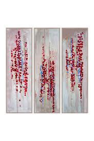 Vermillion California Poppies Triptych Canvas Wall Art on @HauteLook