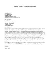 Letters Nursing Cover Letter Example New Grad With Regard To