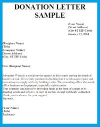 Sample Donation Letters Sample Letter Asking For Donation Template Business