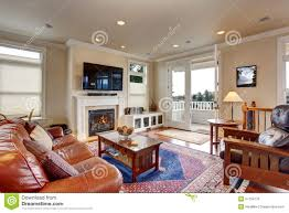 Image Navy Blue Luxury Living Room With Red And Blue Rug Dreamstimecom Luxury Living Room With Red And Blue Rug Stock Photo Image Of